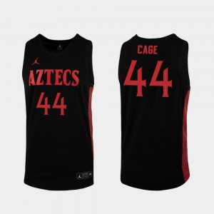 For Men's Black 2019-20 Basketball #44 Michael Cage College Jersey Replica San Diego State Aztecs