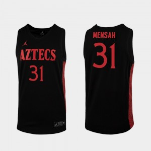 2019-20 Basketball For Men Black Replica San Diego State #31 Nathan Mensah College Jersey