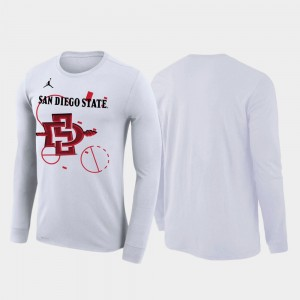 College T-Shirt 2020 March Madness White For Men Aztecs Our Time Bench Legend
