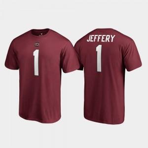 #1 Garnet Alshon Jeffery College T-Shirt Name & Number Gamecock Men's Legends