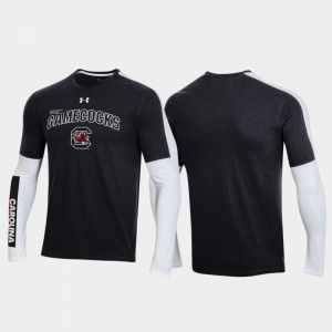 Black Mens College T-Shirt 2020 March Madness USC Gamecocks OT 2.0 Shooting Long Sleeve