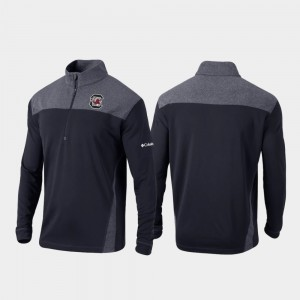Quarter-Zip Pullover Black Omni-Wick Standard Mens College Jacket South Carolina