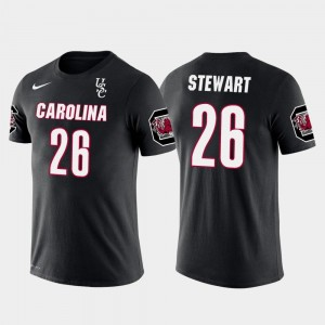 #26 Black USC Gamecocks Denver Broncos Football Darian Stewart College T-Shirt Future Stars Mens