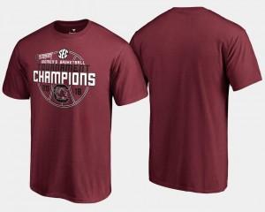 Garnet College T-Shirt Mens University of South Carolina Basketball Conference Tournament 2018 SEC Champions