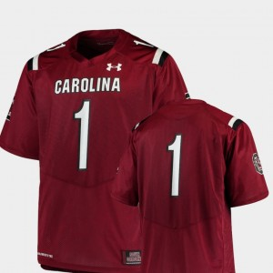 #1 Garnet South Carolina Gamecocks Football Team Replica Men's College Jersey