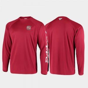 Gamecock PFG Terminal Tackle Long Sleeve Omni-Shade Garnet College T-Shirt For Men's