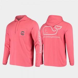Whale College T-Shirt For Men's Hooded Long Sleeve Garnet USC Gamecock