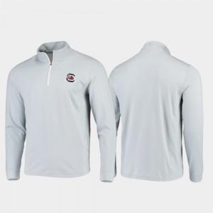 Gameday Quarter-Zip Performance South Carolina Gamecocks Men's Gray College Jacket