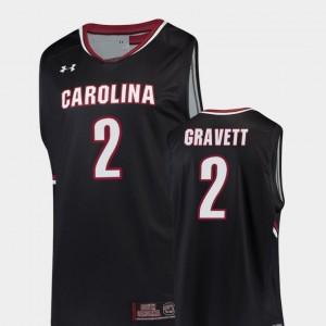 Hassani Gravett College Jersey Men Replica USC Gamecocks #2 Black Basketball