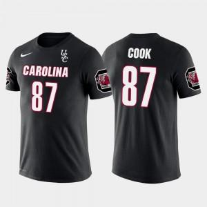 Future Stars #87 Oakland Raiders Football South Carolina Gamecocks Jared Cook College T-Shirt Men Black