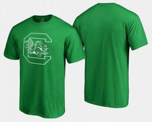 Men's Kelly Green College T-Shirt St. Patrick's Day White Logo Big & Tall South Carolina