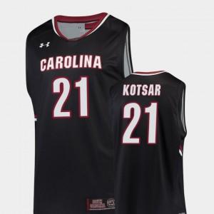 USC Gamecock Basketball Maik Kotsar College Jersey Black #21 Men Replica