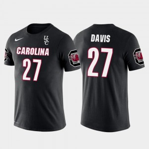 Seattle Seahawks Football Mike Davis College T-Shirt Men Future Stars Black Gamecock #27