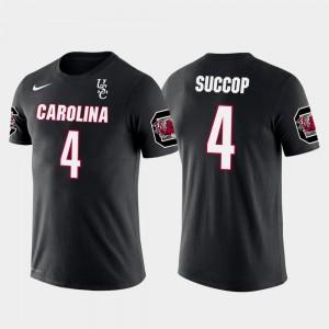 Tennessee Titans Football Future Stars Gamecocks Black #4 Men Ryan Succop College T-Shirt