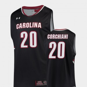 Replica Black Basketball Mens South Carolina Gamecocks #20 Tommy Corchiani College Jersey