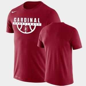 For Men's Drop Legend Cardinal Performance Basketball Cardinal College T-Shirt