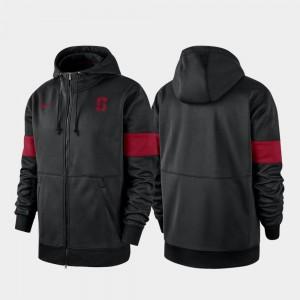Performance Full-Zip College Hoodie Black Men Stanford Cardinal 2019 Sideline Therma-FIT