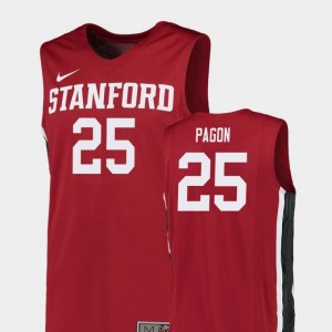 Red #25 Stanford Cardinal Men Replica Basketball Blake Pagon College Jersey