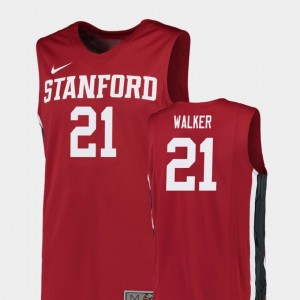 Replica Mens Stanford Cardinal Basketball Cameron Walker College Jersey Red #21