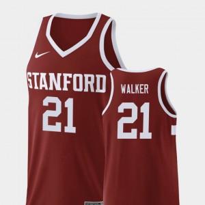 Basketball Wine Stanford Cameron Walker College Jersey For Men Replica #21
