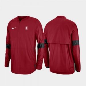 For Men Stanford Cardinal Cardinal Quarter-Zip 2019 Coaches Sideline College Jacket