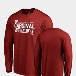 College T-Shirt 2018 Sun Bowl Bound Audible Long Sleeve Cardinal Cardinal Men's