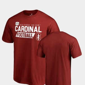 Stanford Cardinal 2018 Sun Bowl Bound For Men Audible College T-Shirt Cardinal