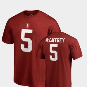 Christian McCaffrey College T-Shirt Name & Number Legends #5 For Men Cardinal Stanford Cardinal