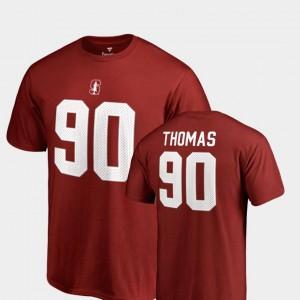 Legends Name & Number #90 Stanford Mens Cardinal Solomon Thomas College T-Shirt