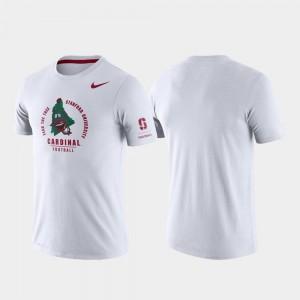 Rivalry Tri-Blend Performance College T-Shirt Stanford University Men White