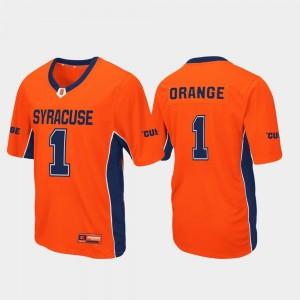 Cuse Orange For Men Football #1 Max Power College Jersey Orange