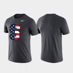 College T-Shirt Americana Legend Performance Anthracite Men Cuse