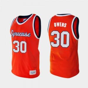 Alumni Syracuse University For Men Basketball Orange #30 Billy Owens College Jersey