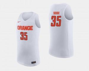 Men #35 Basketball Bourama Sidibe College Jersey Syracuse Orange White