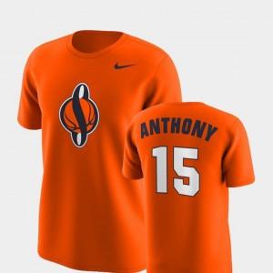Orange Replica Carmelo Anthony College T-Shirt For Men Cuse #15 Future Stars