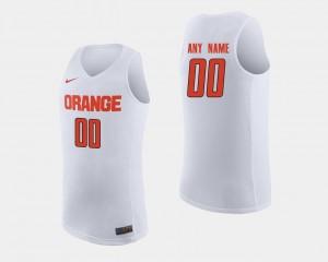 Mens Basketball Syracuse University #00 College Custom Jerseys White