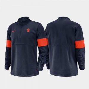 2019 Coaches Sideline College Jacket Cuse Orange Half-Zip Performance Navy For Men's