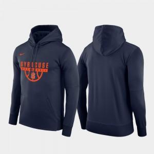 College Hoodie Basketball Drop Circuit Pullover Navy Men's Syracuse Orange