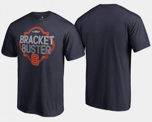 College T-Shirt For Men Navy Cuse 2018 March Madness Bracket Buster Basketball Tournament