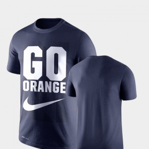 College T-Shirt Legend Franchise Cuse Performance For Men Navy