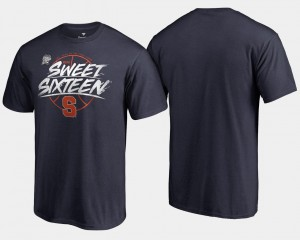 Syracuse University 2018 March Madness Basketball Tournament Backdoor Mens Sweet 16 Bound College T-Shirt Navy
