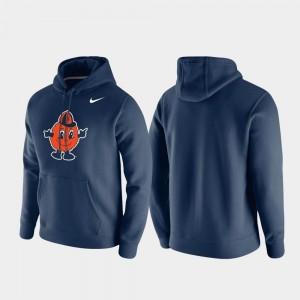 Cuse Navy College Hoodie Club Fleece Mens Vintage Logo