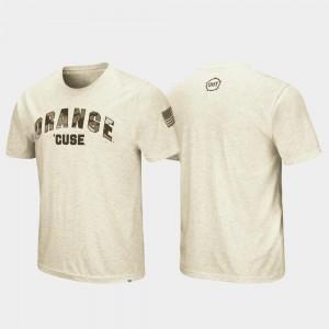 Syracuse University Desert Camo College T-Shirt Men's OHT Military Appreciation Oatmeal