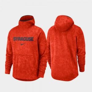 Spotlight Orange Men College Hoodie Syracuse University Basketball Team Logo Pullover