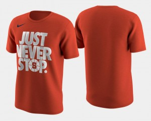 March Madness Selection Sunday College T-Shirt Orange Orange For Men's Basketball Tournament Just Never Stop