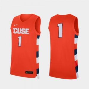 Orange Basketball #1 Replica College Jersey Syracuse University Men