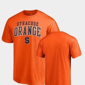 College T-Shirt Men Square Up Orange Cuse Orange
