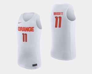 Orange #11 White Oshae Brissett College Jersey For Men Basketball