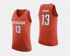 Men Basketball #13 Paschal Chukwu College Jersey Orange Syracuse