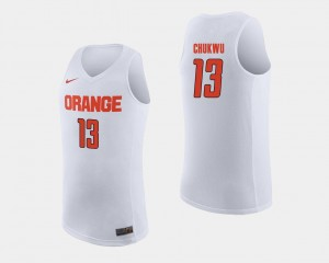 Paschal Chukwu College Jersey Syracuse Orange White Basketball For Men's #13